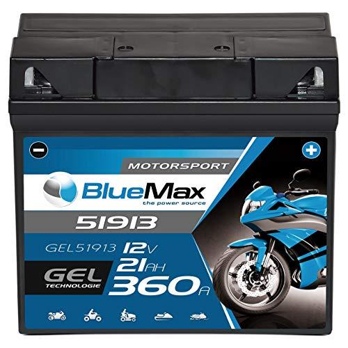 BlueMax +30 Motorsport Motorradbatterie GEL 12V 21Ah BMW G19 51913