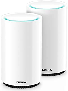 Nokia WiFi Beacon 3 Mesh Router System - Intelligent, Seamless Whole Home WiFi Coverage Extender - Connect Your Whole Hous...