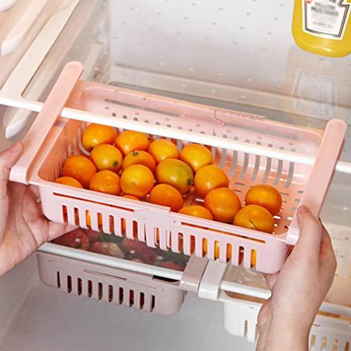 Organizer per cassetti del frigorifero, confezione da 4 cassetti retrattili per frigorifero, design unico, cassetto estraibile, contenitore portaoggetti per frigorifero di piccole dimensioni