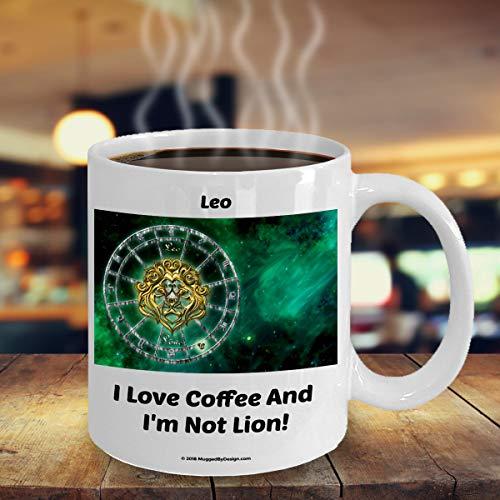 ArthuereBack leeuwen-leeuwen-grappige dierencirkel-sterrenbeeld-koffiemok A2 groot verjaardagscadeau voor de koffieliefhebbers geboren op 23 juli 22 augustus