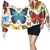 Ilustración de vector transparente de conjunto de iconos de insectos Bufanda de cachemira suave Bufanda con flecos largos Bufanda para mujer Ligero 77 'x27' / 196x68cm Pashmina suave grande extra cál