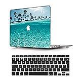 NEWCENT Nuevo MacBook Air 13' Funda,Plástico Ultra Delgado Ligero Cáscara Cubierta EU Teclado Cubierta para MacBook Air 13 Pulgadas con Retina Display Touch ID(Modelo:A2337 M1/A2179),Paisaje A 6