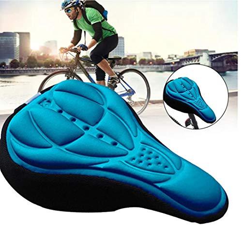Sillín De Bicicleta De Espuma Cómodo Montar De La Bici MTB De Una Silla con Amortiguador De La Silla De Montar De Ciclo De Accesorios Azul
