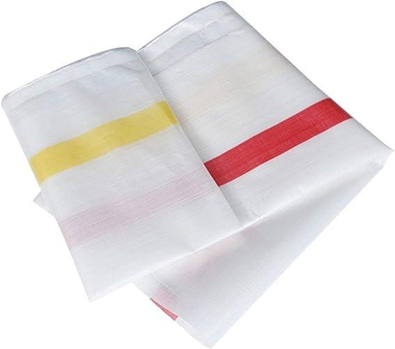 Waterproof Cloth Home Toile imperméable épaisse bache épaisse, Tapis de Pique-Nique imperméable Prougeection Contre Le Soleil Camion Pare-poussière Coupe-Vent Isolation Couleur Tissu