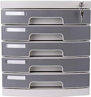 KANJJ-YU Cosmétiques tiroir plastique bureau Rangement Organisateur tiroir verrouillable Sorter A4 Box for Office/Couleur:...