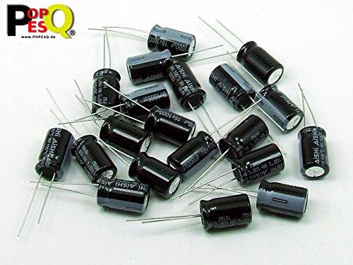 POPESQ® - 20 Piezas x Condensador electrolitico 1000uF 16V / 20 pcs. x Electrolytic Capacitor 1000uF 16V #A1268