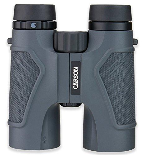Carson 8x42 HD-verrekijker uit de 3D-serie, 042 Verrekijker, Grijs, 10x42mm