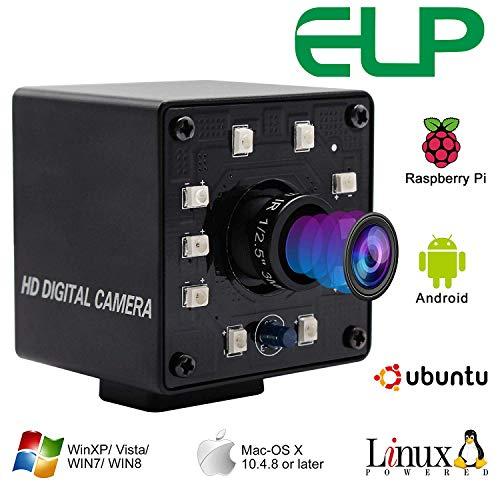 ELP KL36IR 1080P Webcam Full HD Nachtsicht Infrarot PC Kamera 720P/60FPS Plug and Play Kamera Video Web Cam USB mit IR Cut USBFHD05MT-KL36IR