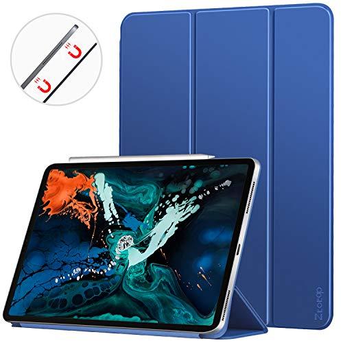 Ztotop iPad Pro 12.9 2018 ケース 極薄 3つ折りスタンド 強力磁石背面 オートスリープ機能 傷つけ防止 手...