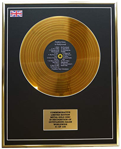 Everythingcollectible Frankie GOES to Hollywood - Frankie SAY Greatest/Metall Gold Disc Display Gedenk Limited Edition