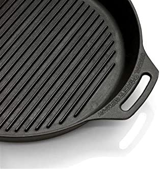 Feuerpfanne mit Rillen Boden Petromax Grillpfanne Gusspfanne /Ø 35 cm /& 30cm Steakpfanne