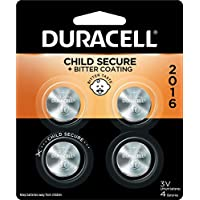 4-Count Duracell 2016 3V Lithium Coin Battery with Bitter Coating