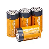 Amazon Basics 4 Pack C Cell All-Purpose Alkaline Batteries, 5-Year Shelf Life, Easy to Open Value Pack