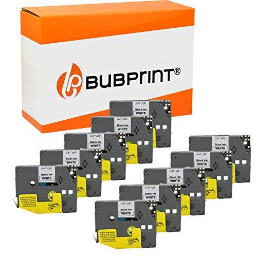 10 Bubprint Schriftbänder kompatibel für Brother TZE-231 für P-Touch 1000 1010 1250 1280 1290 D200VP D400 D400VP H100LB H101C H105 H105WB P700 900 Set