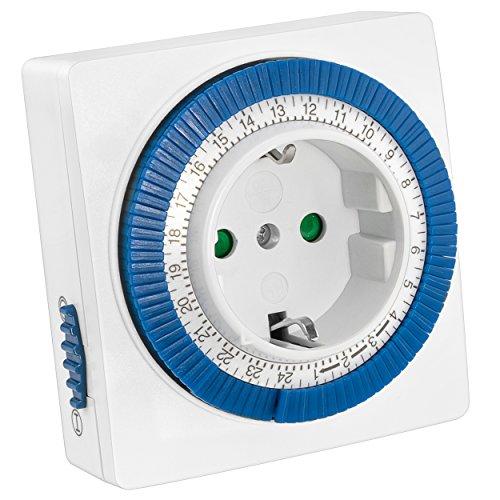 mumbi mechanische 3500W Zeitschaltuhr - 96 Schaltsegmente - Schaltknopf für Ein/Auto-Funktion - einfache Bedienung