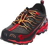 La Sportiva Falkon Low 27-35, Zapatillas de Trail Running Unisex niño, Multicolor (Carbon/Flame 000), 35 EU