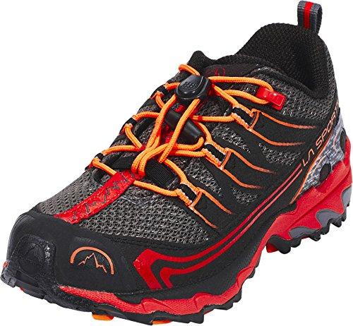La Sportiva 15K900304, Zapatillas de Trail Running Unisex niño, Multicolor (Carbon/Flame 000), 28 EU