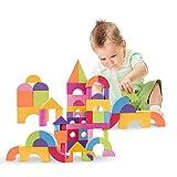 bloques de construcción de 50 piezas, Juego de bloques coloridos de espuma EVA Juegos de construcción Juegos educativos Juegos de construcción multicolor Juguete para la educación temprana