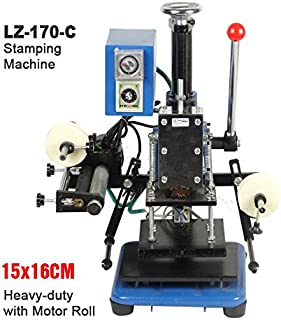 LZ-170-C Manual Hot Foil Stamping Marking Press Embossing Machine (Stamping Area:16x15cm)