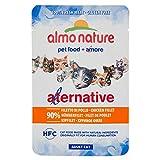 AlmoNature Alternative Assortiment de 24sachets de nourriture humide pour chat (Poitrine de poulet, Filet de poulet, Saumon,...