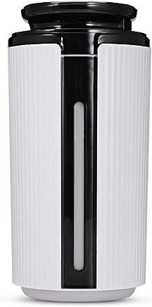 900ミリリットルusbミスト加湿器エッセンシャルオイルディフューザー付き7カラフルなランプライト低ノイズロマンチックな雰囲気の家