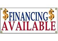 We Finance Available バナー 小売店 ビジネスサイン 36インチ x 15インチ