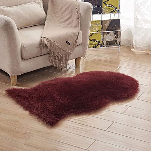 hupuy Tapis Shaggy Design Moderne pour Chambre d\'enfant, Chambre à Coucher,  Salon - Tapis en Fausse Fourrure d\'agneau Et Peau De Mouton 60 X 102CM #2