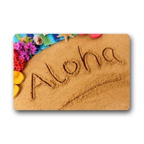 XGBDTJ Hawaii Aloha Felpudo para Tapete De Suelo Exterior para único Exteriores Felpudo Ornamento Diario Retro Elegante Felpudo Antideslizante (Color : Colour, Size : Size)