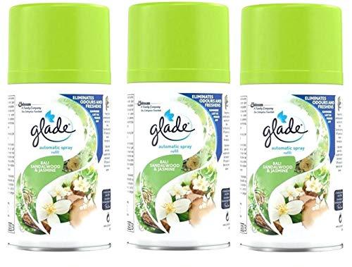 Glade By Brise - Automatic Spray Santal Et Jasmin De Bali 269Ml - Lot De 3 - Livraison Gratuite