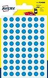 Avery Italia PSA08B Etichette Adesive Rotonde, A6, Celeste, 490 Pezzi
