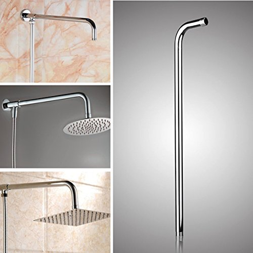 Generic 50x10cm Stainless Steel Silver Shower Head Bracket Wall Mounted Tube Bathroom Accessories
