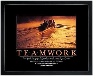 Successories 1.5 in. Black Satin Wood, No Mats - Teamwork Rowers Motivational Poster
