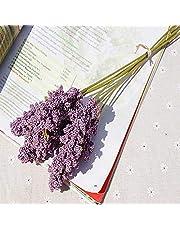 XYZMDJ 6 piezas/paquete PE lavanda barata flor artificial venta por mayor planta decoración de pared ramo material manual DIY (color: A)