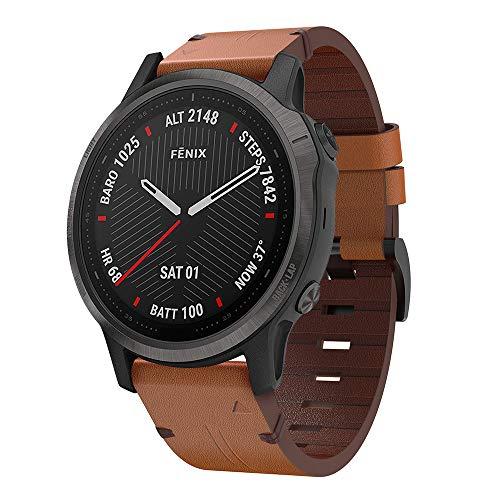 Pulseira de couro Songsier Compatível com a pulseira Fenix 6S, pulseira de couro de alta qualidade para relógio de substituição Fenix 6S/Fenix 6S pro/Fenix 6S Sapphire/Fenix 5S/Fenix 5S Plus Smartwatch