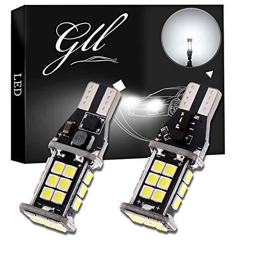 Grandview - Lampade LED T15 W16W 912 921 906, per luci di retromarcia, con LED super luminosi 3030-24-SMD, bianco 6500 K