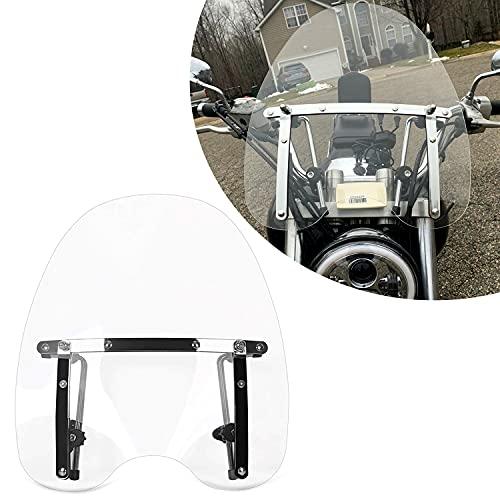 18'x16' Motorcycle Clear Windscreen Windshield for Harley Davidson Honda Kawasaki Suzuki Yamaha with...