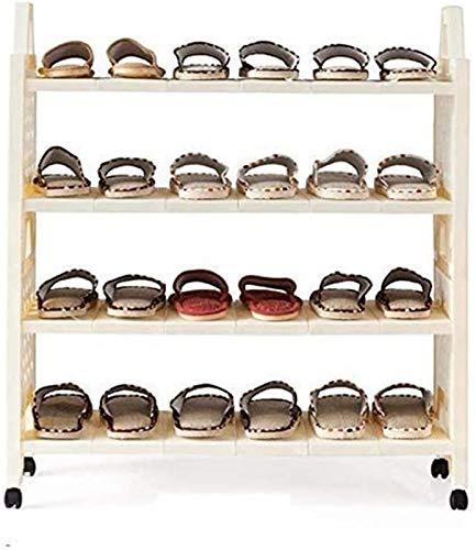 Estante de zapatos Zapato simple rack Familia y Práctica de zapato del zapatero cremallera vertical bolsa de almacenamiento apilable de plástico a prueba de polvo blanco Biblioteca Multifuncional plat