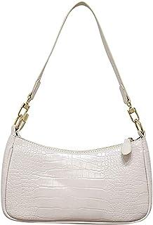Aoun Damen Retro Klassische Clutch Schulterhandtaschen, Krokodil Schlangenhautmuster Clutch Abendtasche mit Reißverschluss
