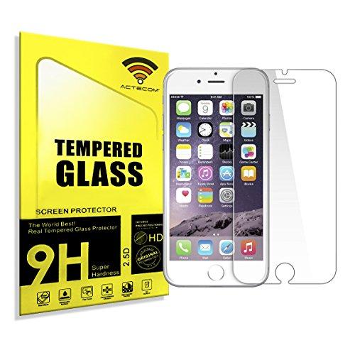 actecom® Protector DE Pantalla Cristal Templado Doble para iPhone 8/4,7