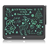 Fverey LCD Writing Tablet, 15 Inch Large Doodle Board,Drawing Tablet Educational Toys for Boys and Girls,Electronic Drawing Pad Gift for Kids and Adults Black