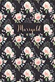 Marigold: Personalized Journal | Custom Name Journal - Pink Rose - Journal for Girls - 6 x 9 Sized, 110 Pages - Personalized Journal for Women - ... Gift for Teachers, Granddaughters and Friends