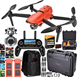 Autel Robotics EVO 2 Drone Folding Quadcopter Rugged Combo 8K HDR Video and 48MP Camera EVO II Extended Warranty Expedition Bundle with Custom Hard Case + Remote Control + Backpack + Software Kit