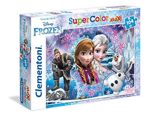 Clementoni-Frozen Modello 23662 Supercolor Puzzle, Multicolore, 104 Pezzi