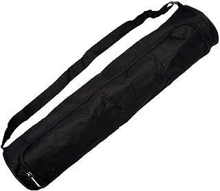 Bolsa de Esterilla de Yoga Grande y Negra con Correa Ajustable para el Hombro - Bolsillos de Almacenamiento para Mujeres y Hombres