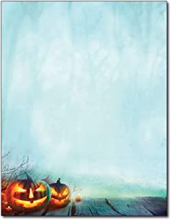 Enchanted Pumpkins Letterhead Paper - 80 Sheets