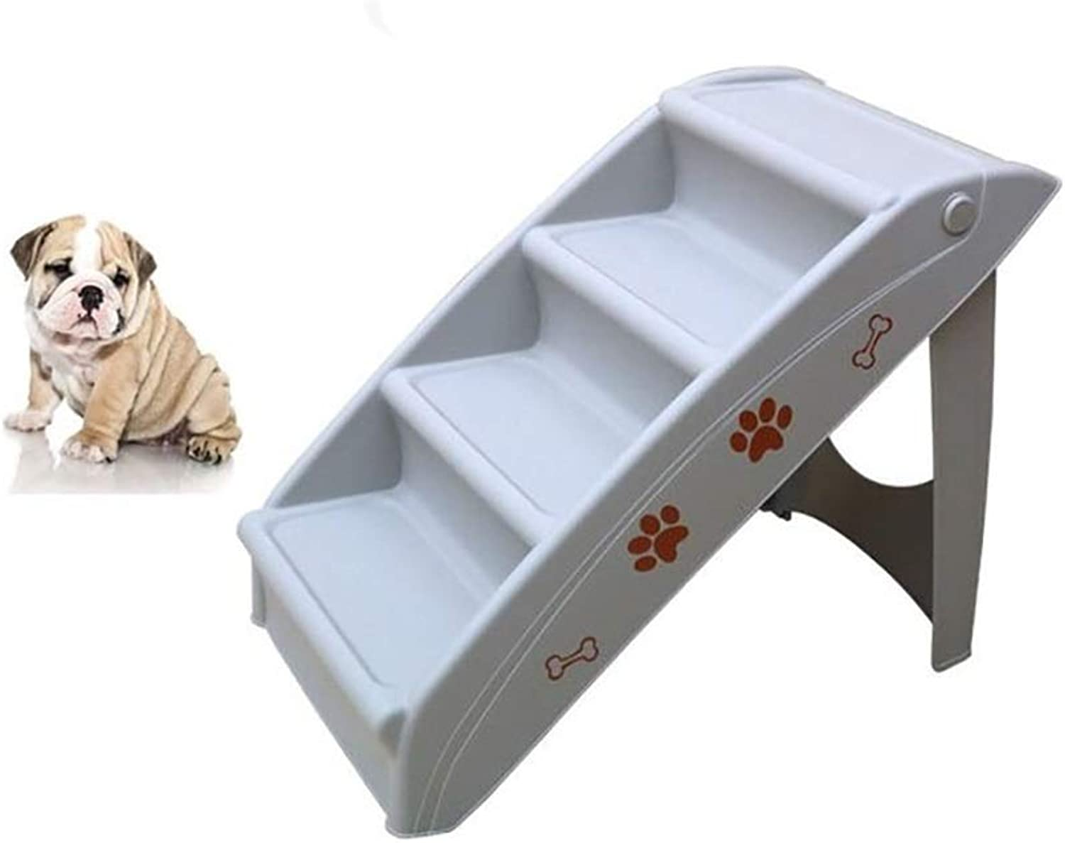 Cawblctd Pet stairs Pet Stairs, 2Step for Cats Dogs,The plastic is easy to clean. Foldable, Best for Small to Medium Pets (color   2)