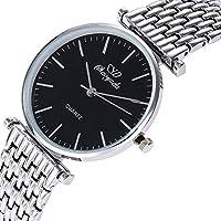 ZHANGZZ高級時計CHAOYADA腕時計, 女性の腕時計ファッションスチールベルト女性のクォーツ時計女性 (Color : 2)
