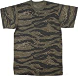 Army Universe Tiger Stripe Camouflage Short Sleeve T-Shirt Pin - Size Large (41'-45')