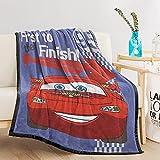 Lightning McQueen Cars Flannel Throw Blanket Kids Soft Cozy Microfiber Flannel Fleece Blankets for Kids Spring/Summer Soft Fleece Sofa Couch Blanket TV Bed Blanket 60'x 80'