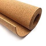 Corcho en rollo de 5 mm de espesor. Venta por metros. Aislamiento acústico y térmico, tablón de anuncio para pared, antiestático para suelos. (0,75 X 1 M)